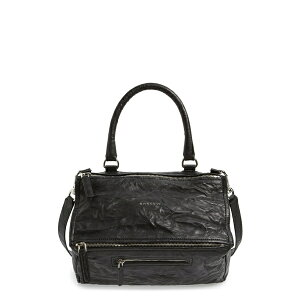 Givenchy Ladies Handbag Bag Medium Pepe Pandora Leather Satchel Black