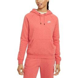 ナイキ レディース カットソー トップス Women's Sportswear Essential Fleece Hoodie Magic Ember/htr/white