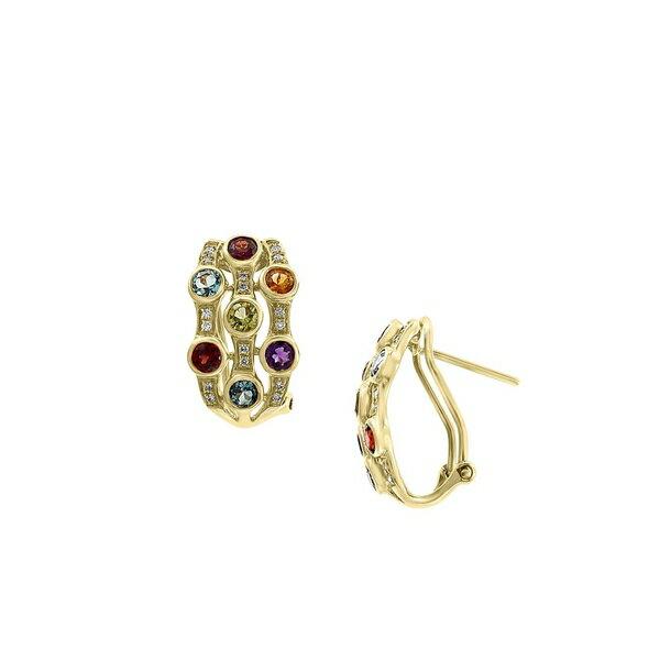 エフィー レディース ピアス&イヤリング アクセサリー 14K Yellow Gold, Diamond & Multi-Stone Earrings Gold