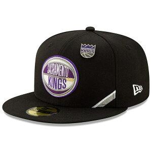ニューエラ メンズ 帽子 アクセサリー Sacramento Kings New Era 2019 NBA Draft 59FIFTY Fitted Hat Black