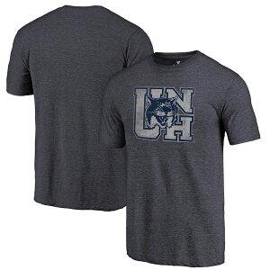 ファナティクス メンズ Tシャツ トップス New Hampshire Wildcats Fanatics Branded College Vault Primary Logo Tri-Blend T-Shirt Navy
