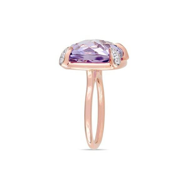 ソナティナ レディース リング アクセサリー 14K Rose Gold, Rose de France & White Sapphire Cocktail Ring Rose Gold