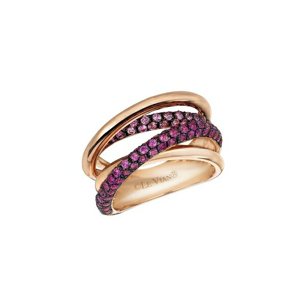 ルヴァン レディース リング アクセサリー Chocolatier® Bubblegum Pink Sapphires™ & 14K Strawberry Gold® Gladiator Weave Ring Strawberry Gold