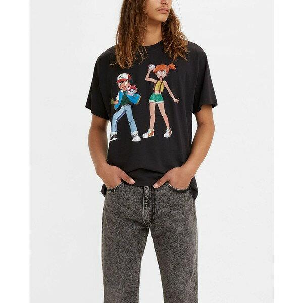 トップス, Tシャツ・カットソー  T x Pokeacute;mon Unisex T-shirt Ash And Misty Caviar Black