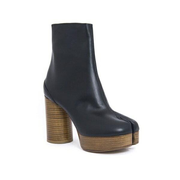 マルタンマルジェラ レディース ブーツ&レインブーツ シューズ Maison Margiela Smooth Black Tabi Boots Nero