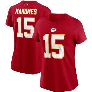 ナイキ レディース Tシャツ トップス Patrick Mahomes Kansas City Chiefs Nike Women's Team Player Name & Number T-Shirt Red