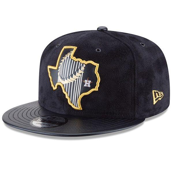 メンズ帽子, キャップ  Houston Astros New Era 2017 World Series Champions State Trophy 9FIFTY Adjustable Hat Navy