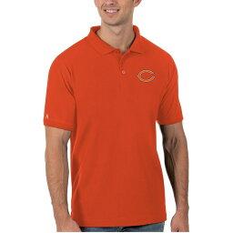 アンティグア メンズ ポロシャツ トップス Chicago Bears Antigua Legacy Pique Polo Orange