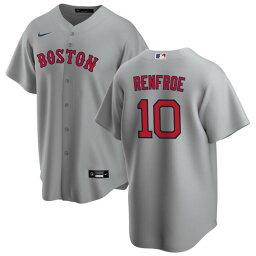 ナイキ メンズ ユニフォーム トップス Boston Red Sox Nike Road Replica Custom Jersey Gray