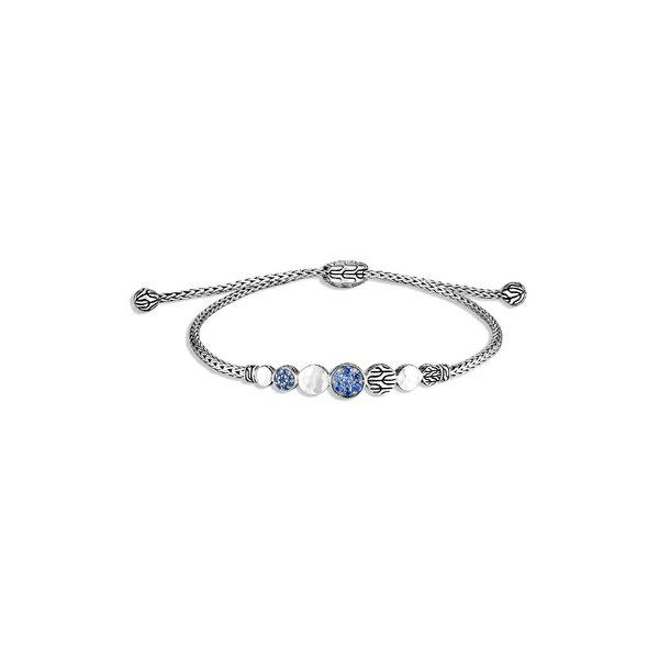レディースジュエリー・アクセサリー, ブレスレット  Dot Hammered Adjustable Bracelet Blue Sapphire Silver