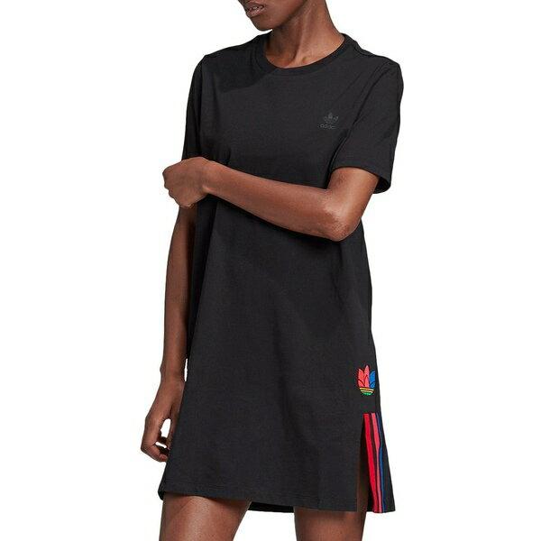 アディダス レディース シャツ トップス adidas Women's 3-Stripes Originals Dress Black