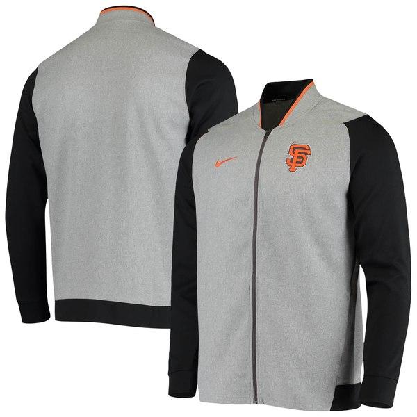 メンズファッション, コート・ジャケット  San Francisco Giants Nike Game Raglan Performance Full Zip Jacket Heathered Gray