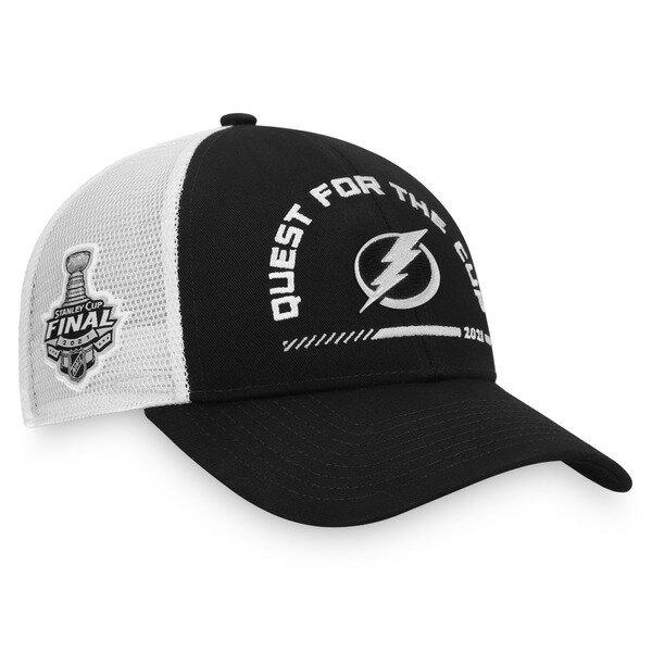 メンズ帽子, キャップ  Tampa Bay Lightning Fanatics Branded 2021 Stanley Cup Final Bound Trucker Adjustable Hat BlackWhite