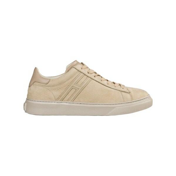 ホーガン メンズ スニーカー シューズ Hogan Shoes Leather Trainers Sneakers H365 BEIGE