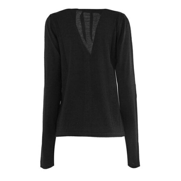 ヌメロ ヴェントゥーノ レディース ニット&セーター アウター N.21 Black Wool-silk Blend Fitted Cardigan Nero