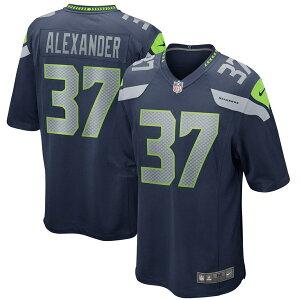 ナイキ メンズ ユニフォーム トップス Shaun Alexander Seattle Seahawks Nike Game Retired Player Jersey College Navy