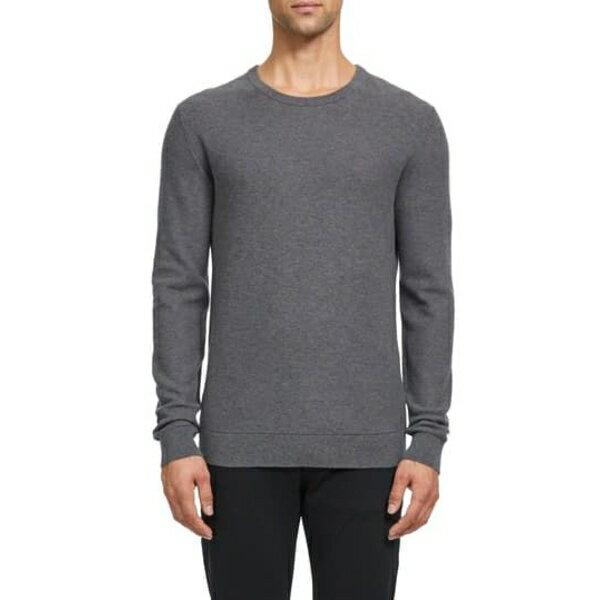セオリー メンズ ニット&セーター アウター Riland Crewneck Piqu Sweatshirt GRHE