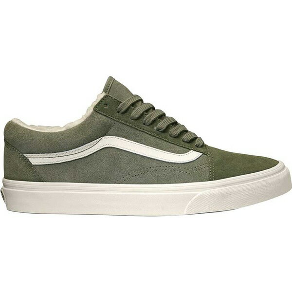 バンズ レディース スニーカー シューズ Old Skool Sneaker (Suede/Sherpa) Grape Leaf/Dusty Olive