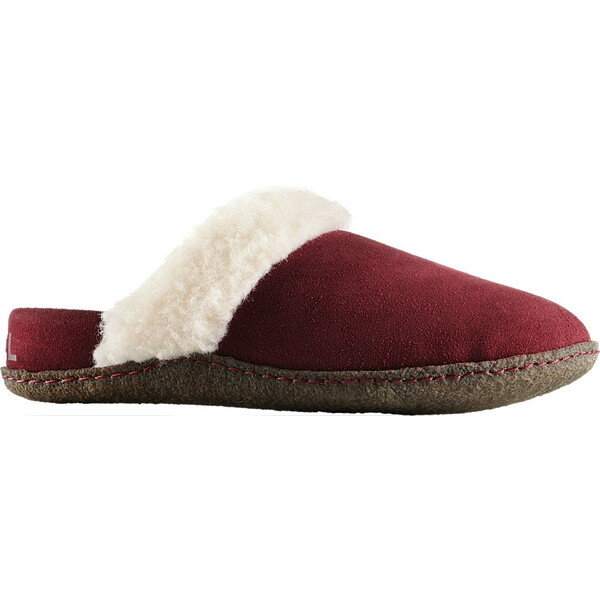 ソレル レディース サンダル シューズ Nakiska Slide II Slipper Rich Wine/Natural Suede