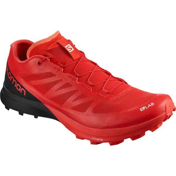 サロモン レディース スニーカー シューズ S-Lab Sense 7 SG Running Sneaker Racing Red/Black/White