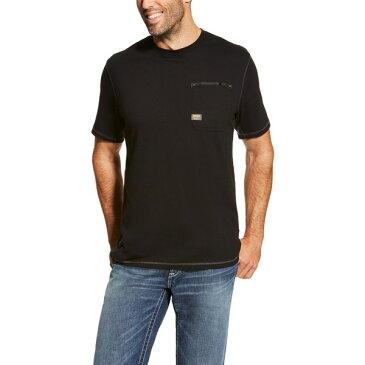 アリアト メンズ シャツ トップス Ariat Men's Rebar Workman T-shirt Black