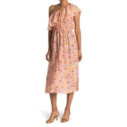ビーシービージーマックスアズリア レディース ワンピース トップス One Shoulder Floral Print Ruffle Dress MULTI