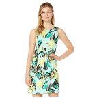 パッパガッロ レディース ワンピース トップス The Sandy Dress - Fresh Floral Printed Scuba Fresh Green Multi