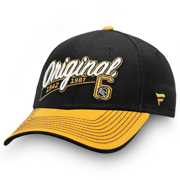 メンズ帽子, キャップ  NHL Fanatics Branded Original Six Flex Hat BlackGold