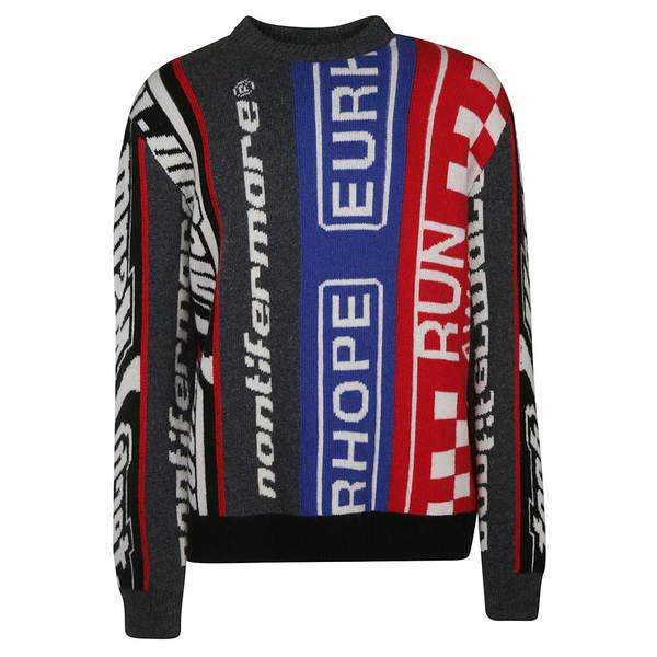 エムエスジイエム メンズ ニット&セーター アウター MSGM Knitted Sweater multicolored
