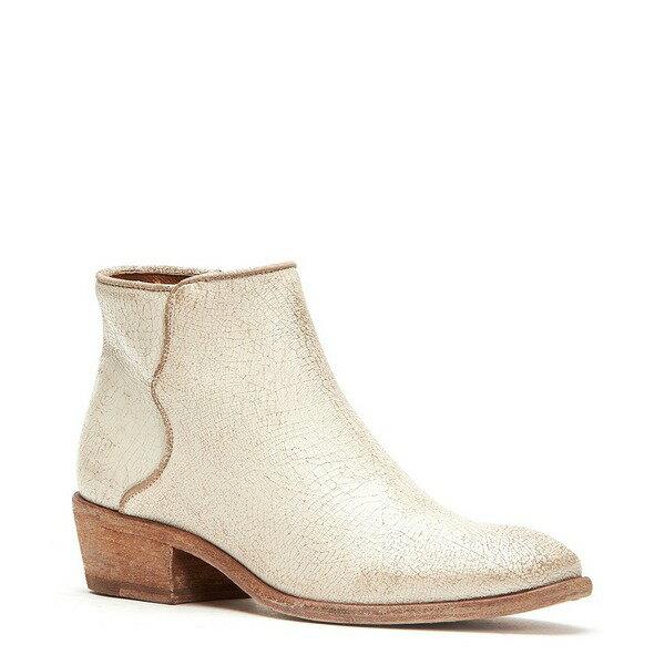 フライ レディース ブーツ&レインブーツ シューズ Carson Painted Suede Piping Block Heel Booties Off White