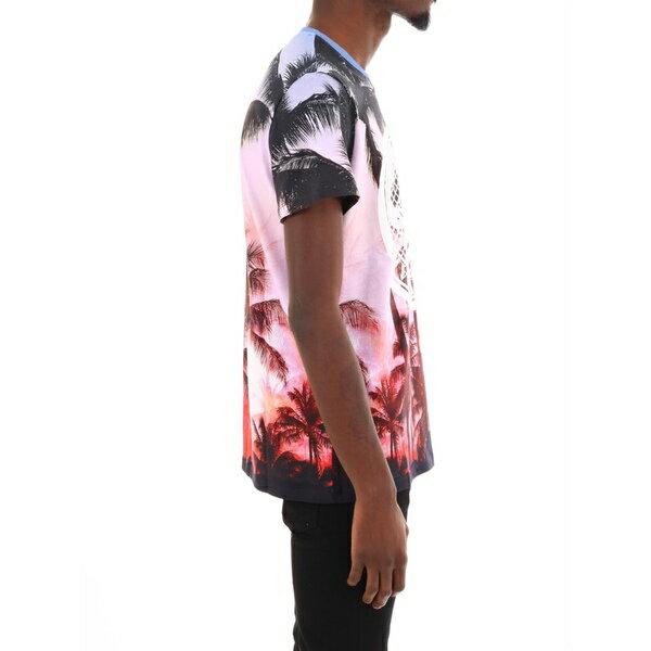 バルマン メンズ カットソー トップス Balmain T-shirt Tropical Print Multicolor