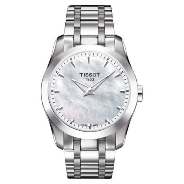 ティソット レディース ブレスレット・バングル・アンクレット アクセサリー Women's Couturier Bracelet Watch, 33mm SILVER/MOP/SILVER