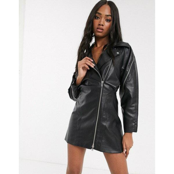 スーツ・セットアップ, ワンピーススーツ  ASOS DESIGN biker dress in pu Black
