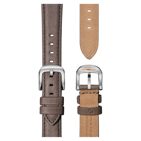シャイノーラ レディース 腕時計 アクセサリー Shinola The Runwell Leather Strap Watch, 36mm Grey/ White/ Silver