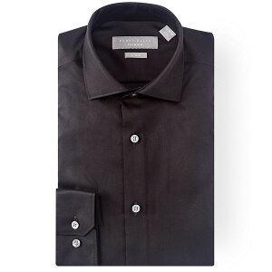 ペリーエリス メンズ シャツ トップス Premium Non-Iron Slim-Fit Spread-Collar Solid Twill Dress Shirt Black