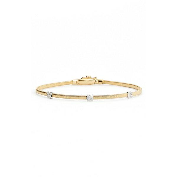 マルコ ビチェゴ レディース ブレスレット・バングル・アンクレット アクセサリー Marco Bicego Masai Small Station Diamond Bracelet Yellow Gold