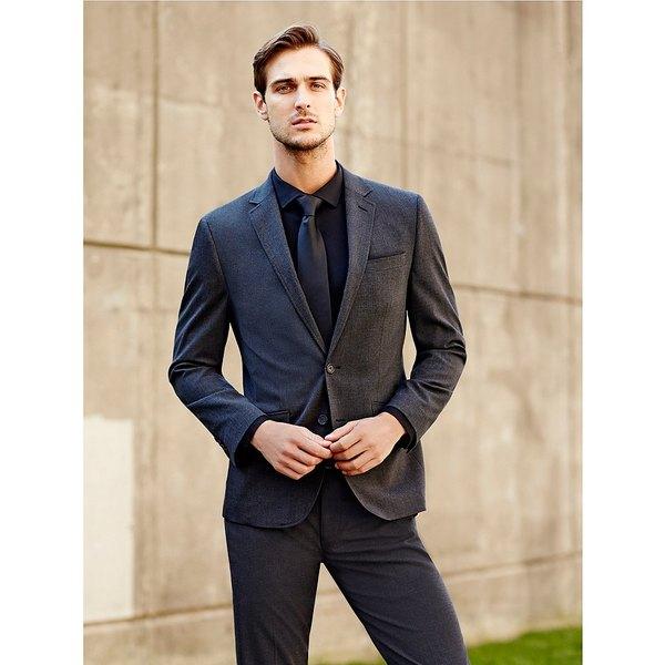 ムラノ メンズ ジャケット&ブルゾン アウター Wardrobe Essentials Slim-Fit Suit Separates Blazer Charcoal