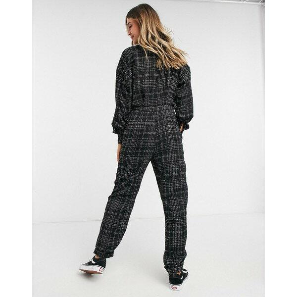 スーツ・セットアップ, ワンピーススーツ  ASOS DESIGN relaxed button front jumpsuit in boucle plaid Boucle plaid