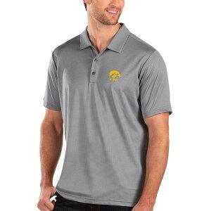 アンティグア メンズ ポロシャツ トップス Iowa Hawkeyes Antigua Balance Polo Black