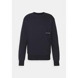 カルバンクライン メンズ パーカー・スウェットシャツ アウター OFF PLACED ICONIC CREW NECK UNISEX - Sweatshirt - blue