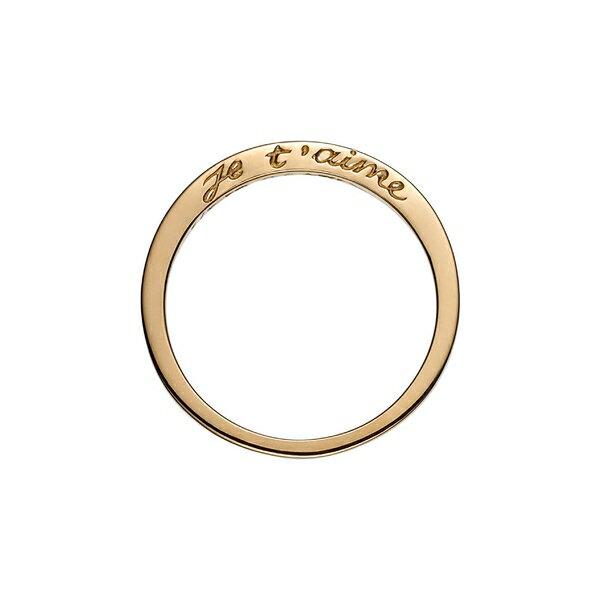 コーラコーガン レディース リング アクセサリー Nora Kogan Je T'aime Side Script Stackable Ring Yellow Gold