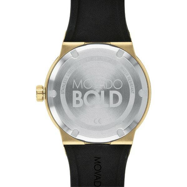 モバド レディース 腕時計 アクセサリー Movado Bold Fusion Silicone Strap Watch, 42mm Black/ Gold