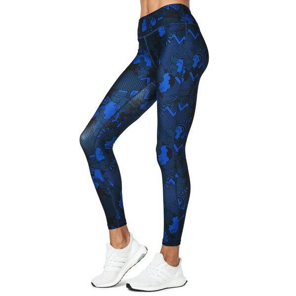 スウェッティベティ レディース レギンス ボトムス Sweaty Betty Contour Leggings Blue Quartz Peace Print