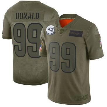 ナイキ メンズ シャツ トップス Aaron Donald Los Angeles Rams Nike 2019 Salute to Service Limited Jersey Olive