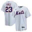 ナイキ メンズ ユニフォーム トップス Javier Bez New York Mets Nike Home Official Replica Player Jersey White