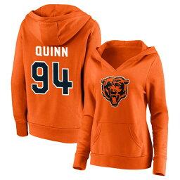 ファナティクス レディース パーカー・スウェットシャツ アウター Chicago Bears Fanatics Branded Women's Personalized Name & Number Winning Streak VNeck Pullover Hoodie Orange