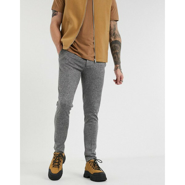 メンズファッション, ズボン・パンツ  ASOS DESIGN smart super skinny pants in charcoal cross hatch Charcoal