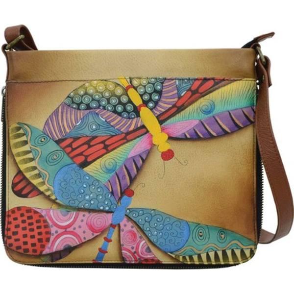 財布・ケース, レディース財布  Hand Painted Extendable Crossbody 8324 (Womens) Dancing Dragonflies