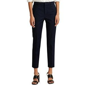 ラルフローレン レディース カジュアルパンツ ボトムス Petite Size Stretch Cotton Blend High Rise Cropped Pants Lauren Navy