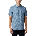 コロンビア メンズ シャツ トップス Columbia Men's Summer Chill SS Shirt Sky Blue Trees
